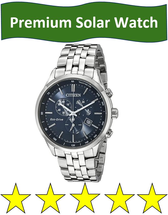 high end dress solar watch