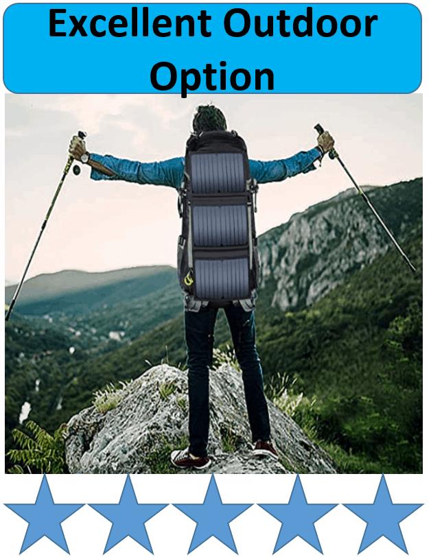 hiker wearing outdoor backpack