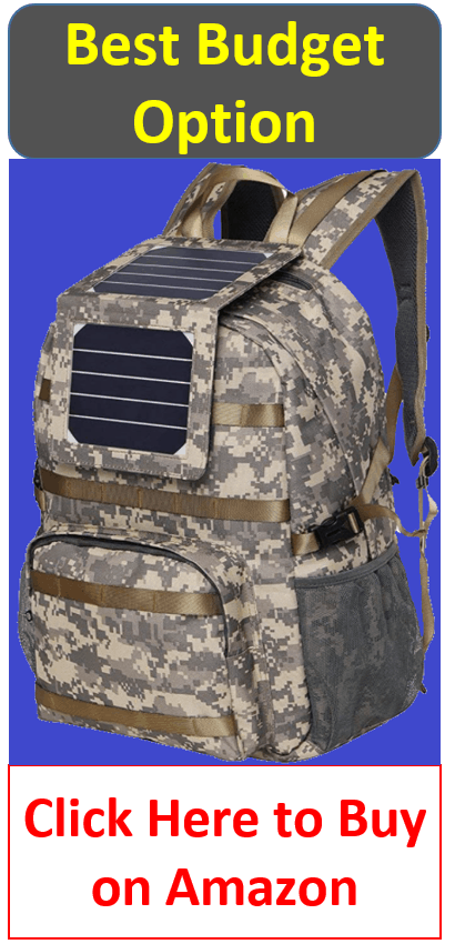 budget camo solar backpack