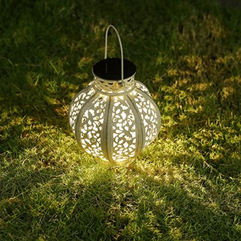 solar lantern on grass