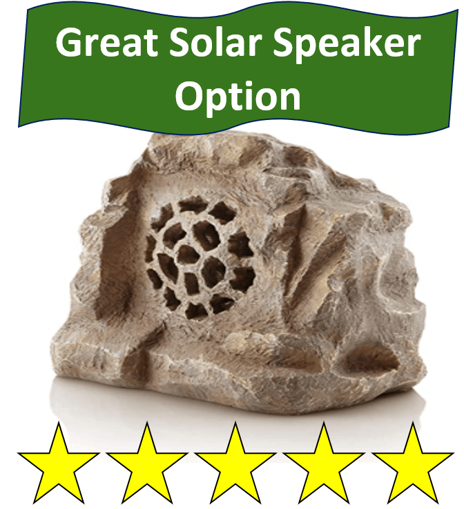 alpine solar garden stone speaker