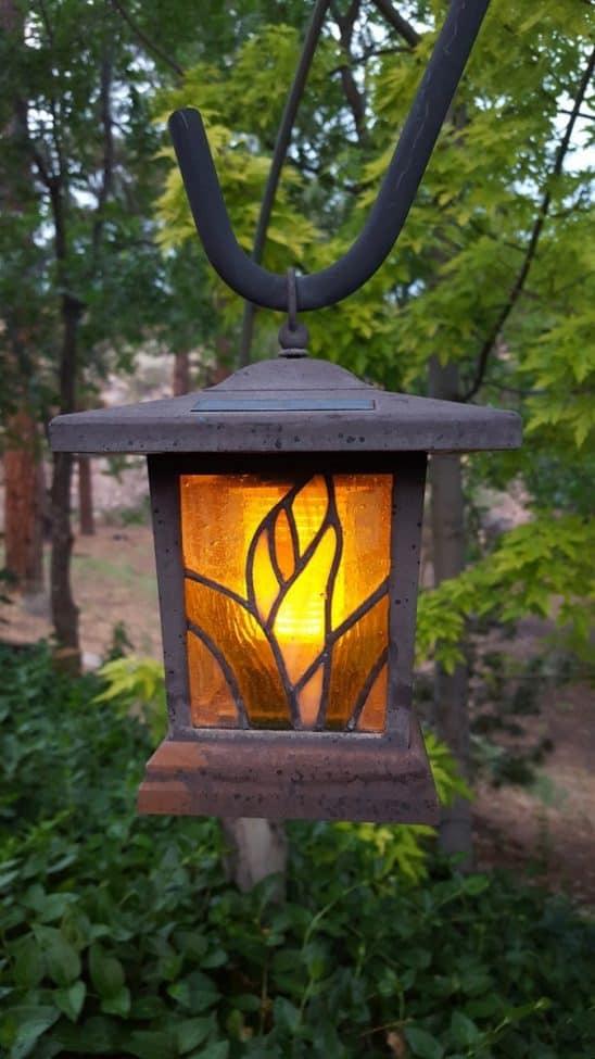 hanging solar garden lantern