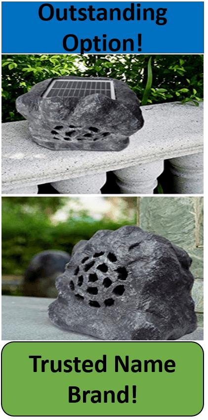 Roaming Light Outdoor Solar Powered Rock Speakers Outdoors