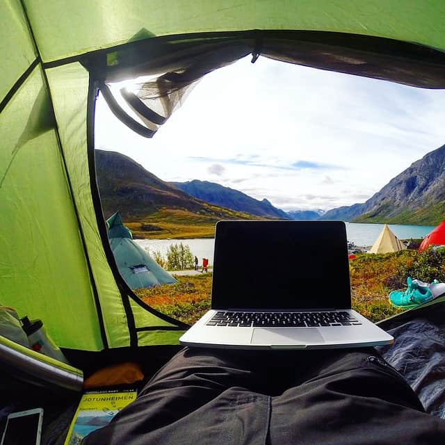 solar laptop charging while camping